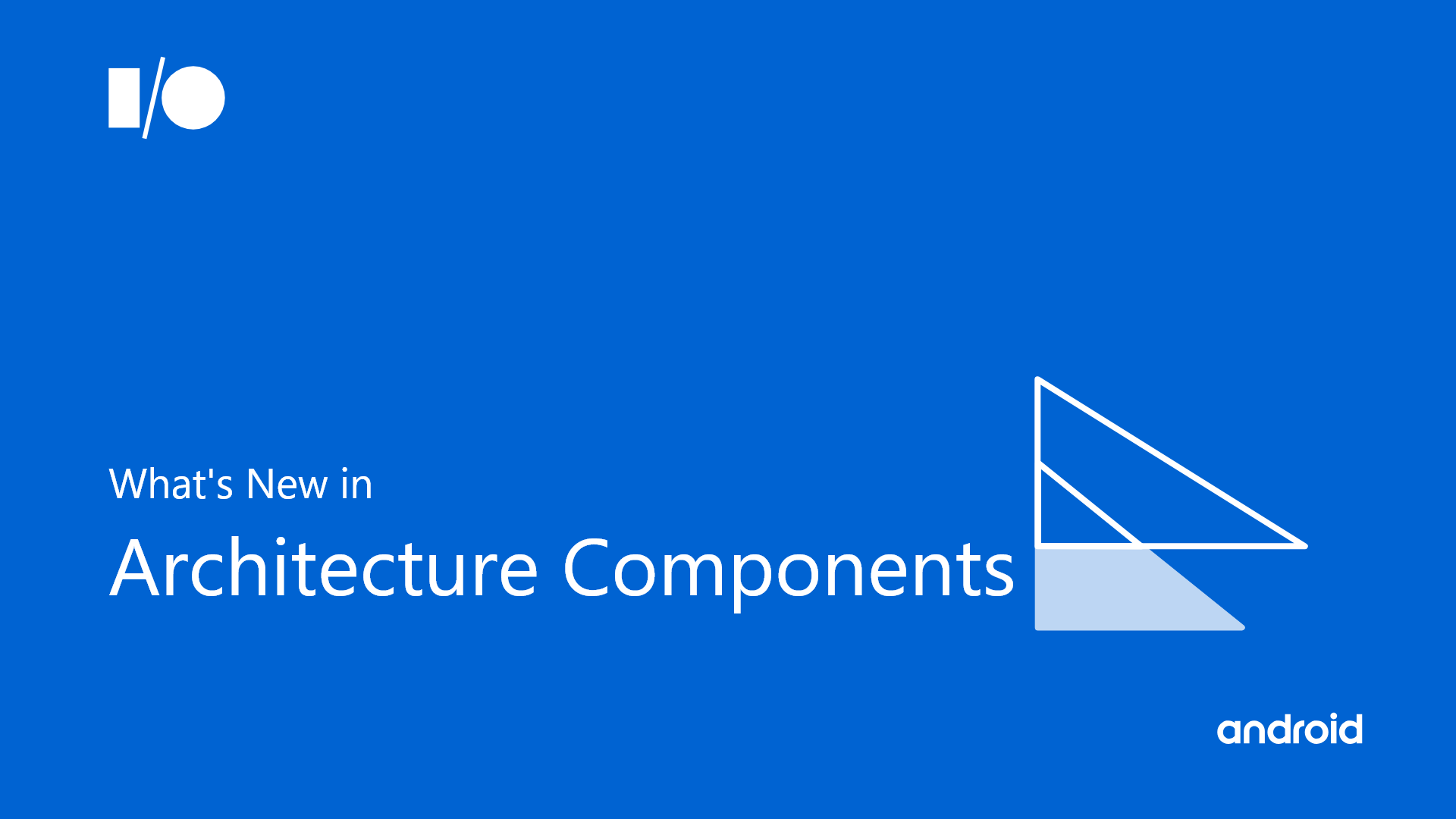 What's New in Android Architecture Components — Google I/O'19