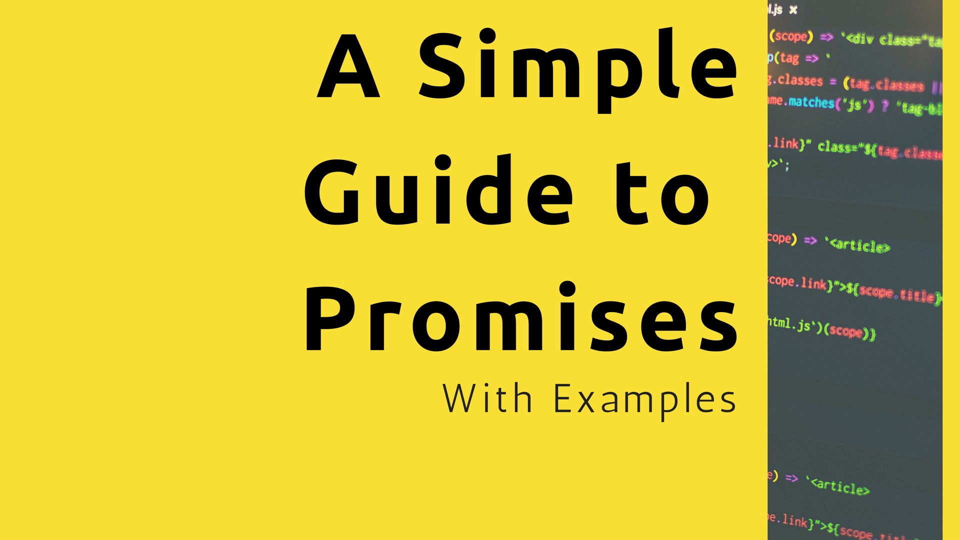 A Simple Guide to ES6 Promises - codeburst