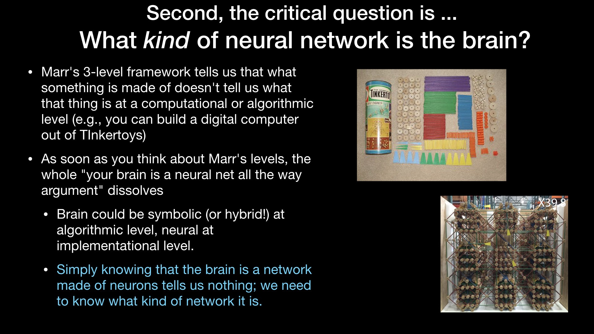 What kind of neural network is the brain?
