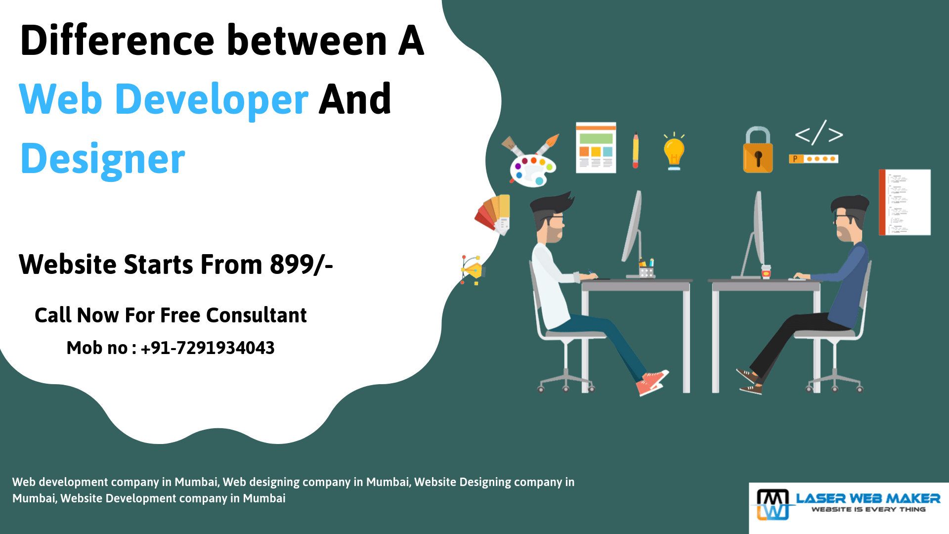 Difference Between A Web Developer And Designer By Lubna Khan Medium