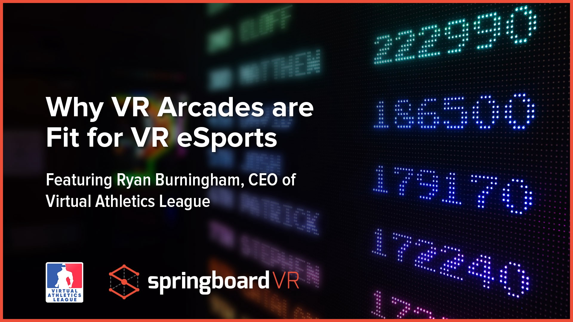 Why VR Arcades are Fit for VR eSports - SpringboardVR - Medium