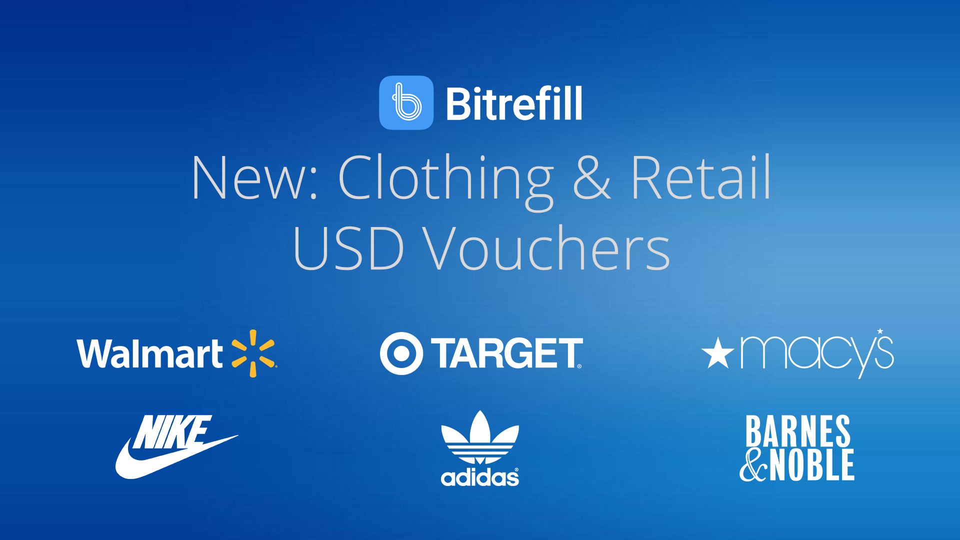 Retail is here — Buy Walmart, Target & more vouchers with