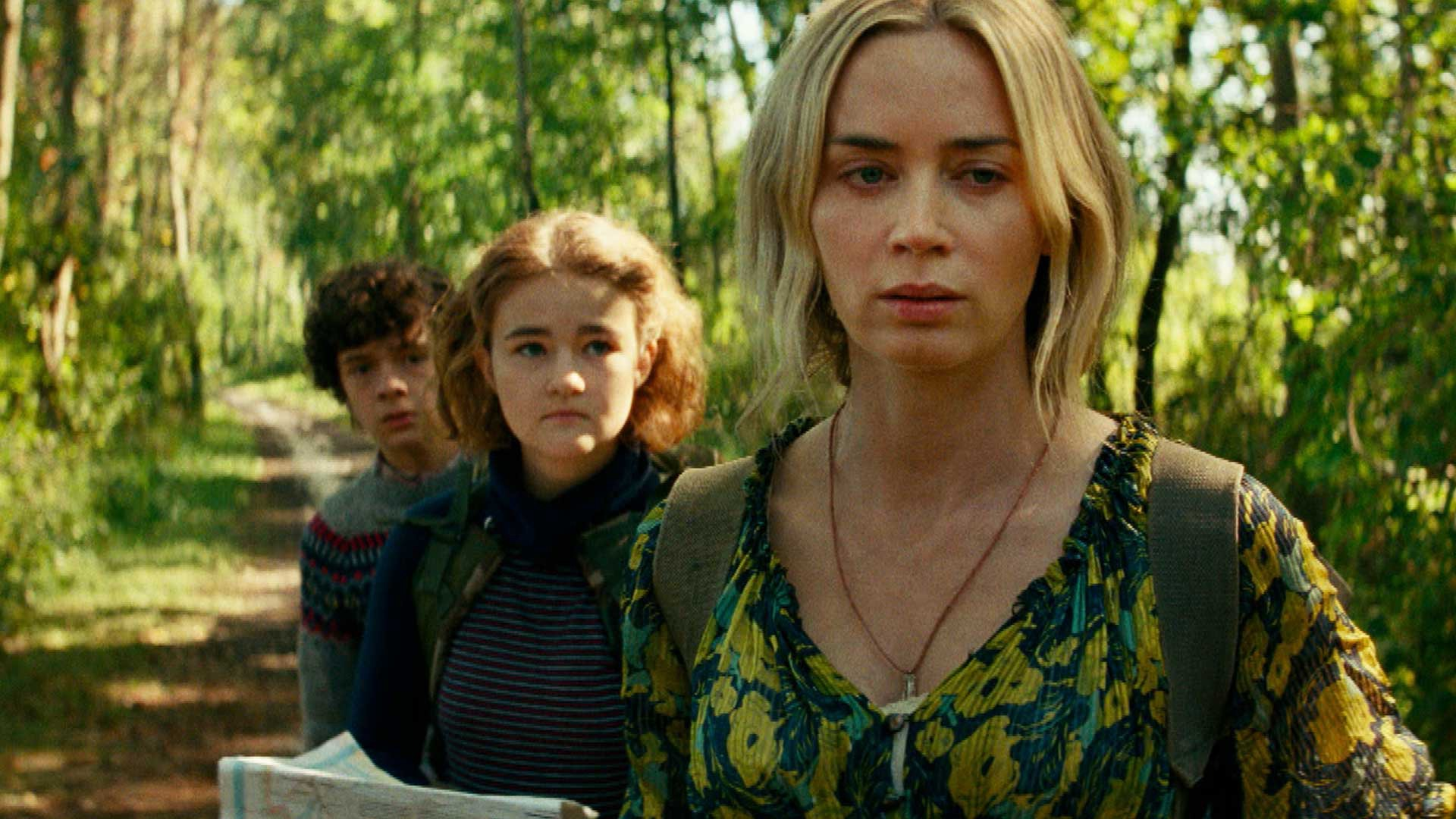 """Emily Blunt, Millicent Simmonds, and Noah Jupe in 'A Quiet Place Part II"""""""
