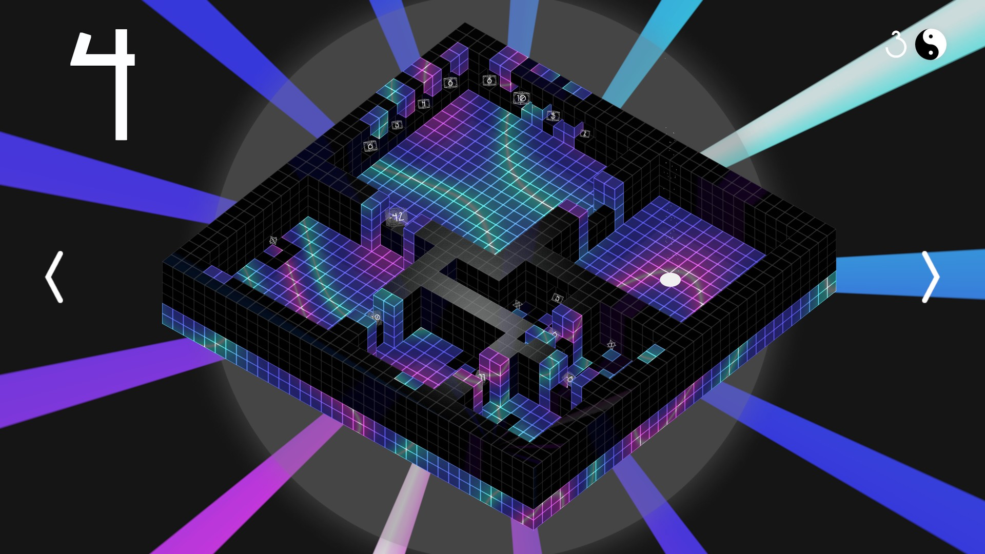 Preview of a level in Obversion.