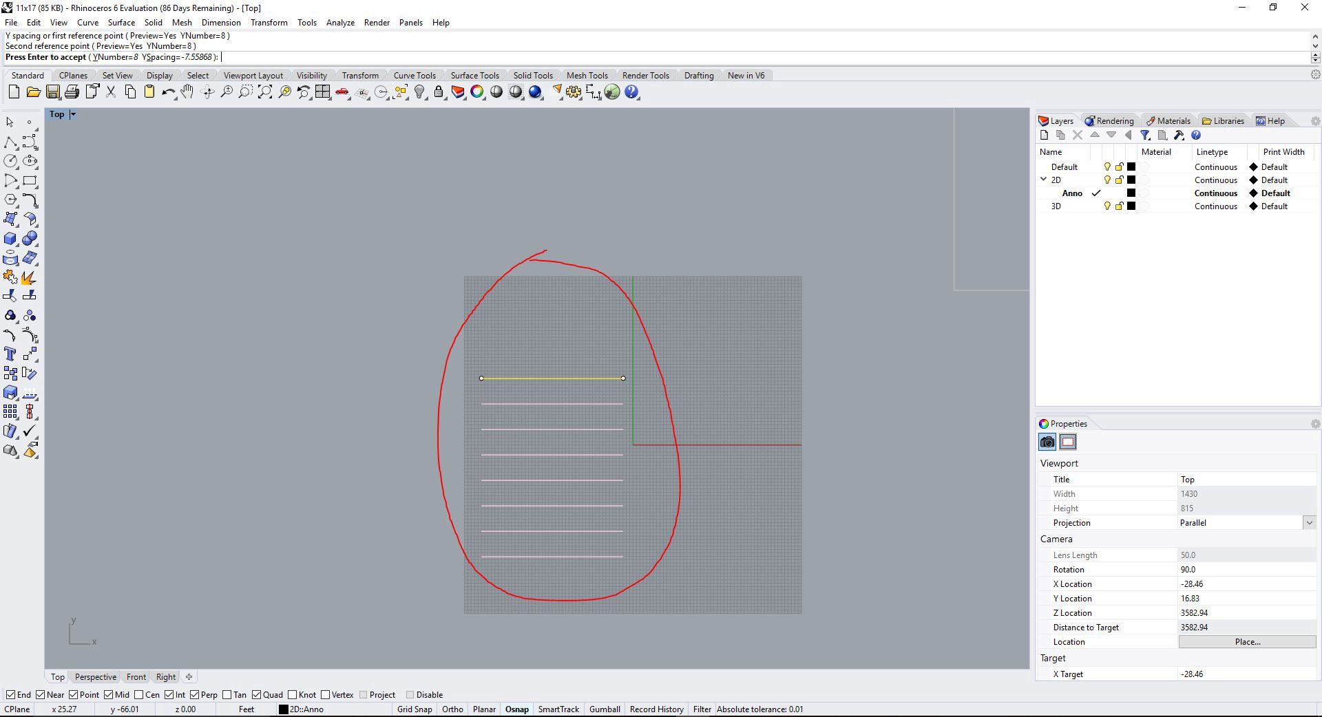 Rhino Tutorial: Setting Line Weights, Line Types, Hatches