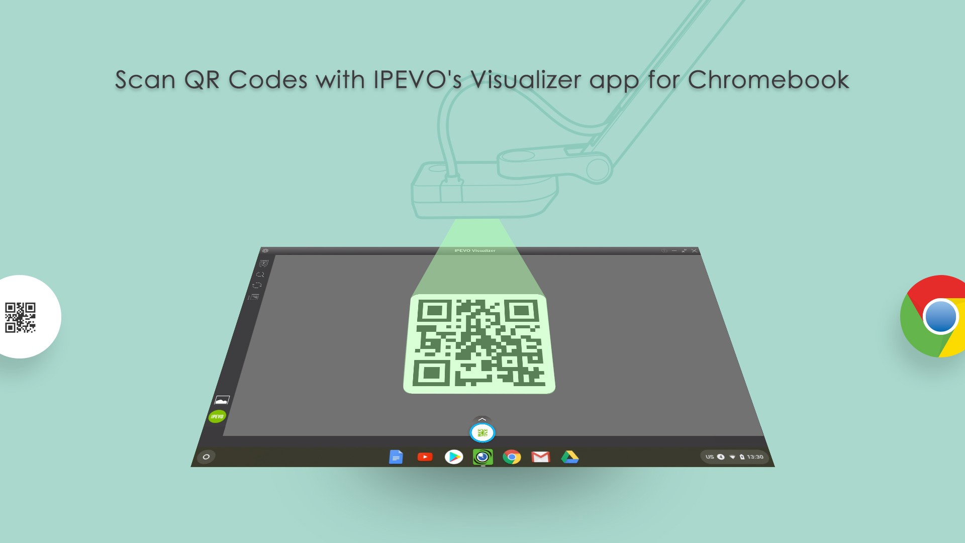 IPEVO Visualizer for Chromebook — Scan QR Codes