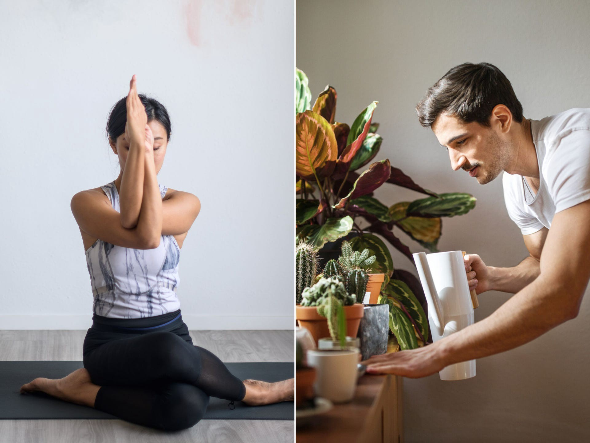 Activities like yoga and gardening can be positive ways to relieve stress or feelings of anxiety.