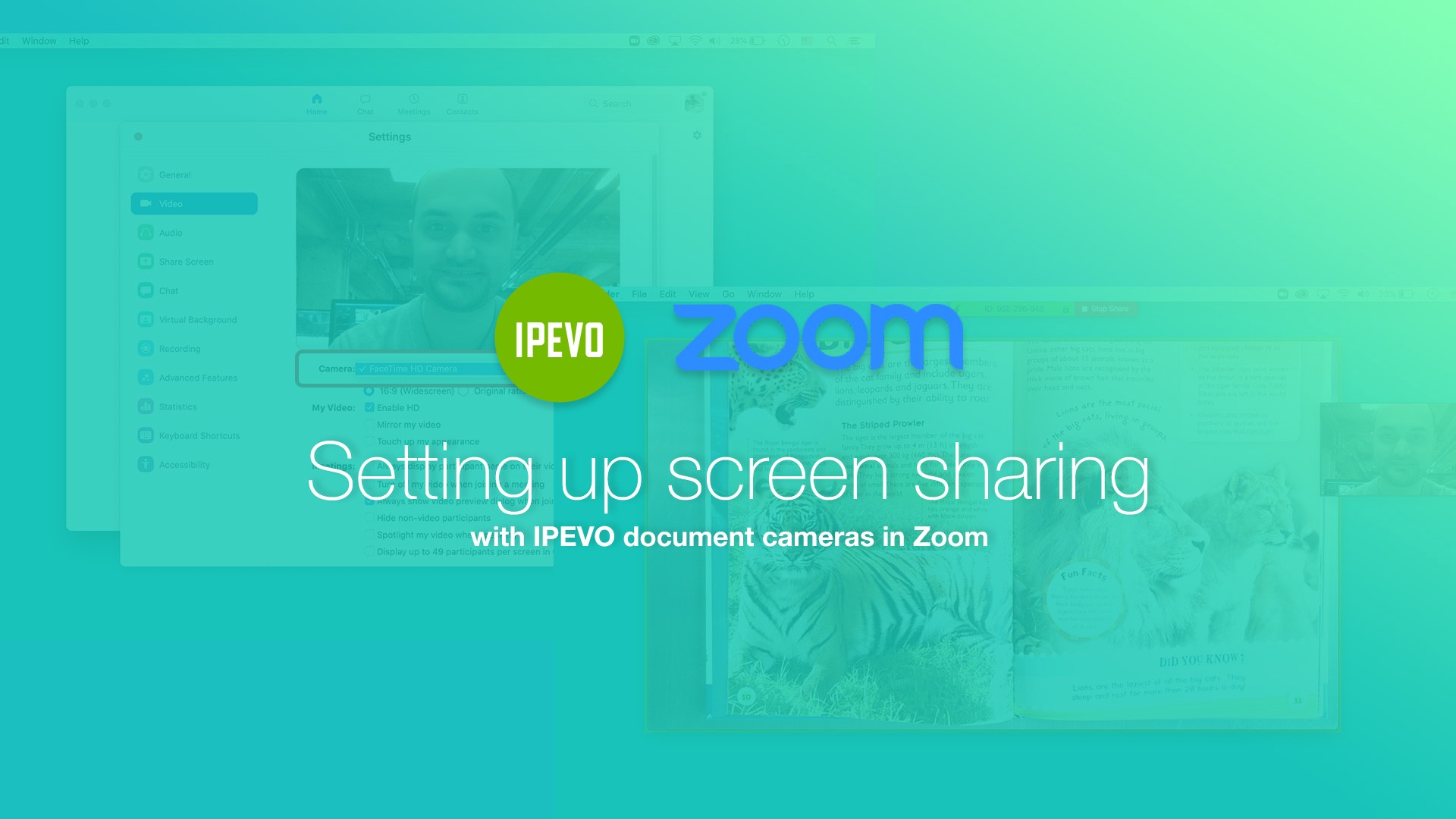 Setting up screen sharing with IPEVO document cameras in Zoom