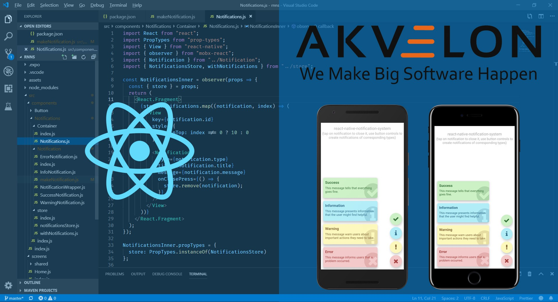 Building in-app notification system in React Native