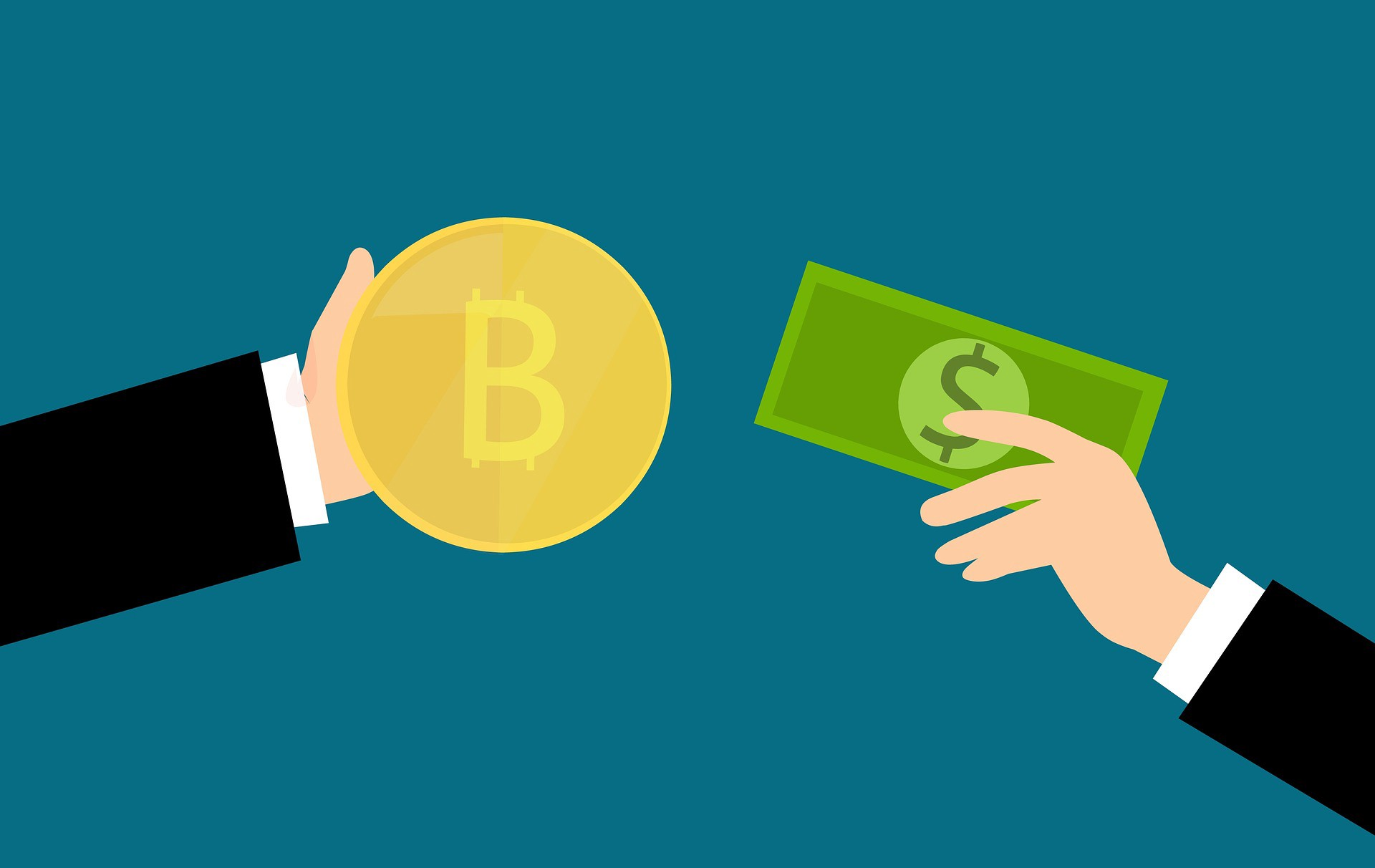 buy and sell bitcoins on different exchanges with different