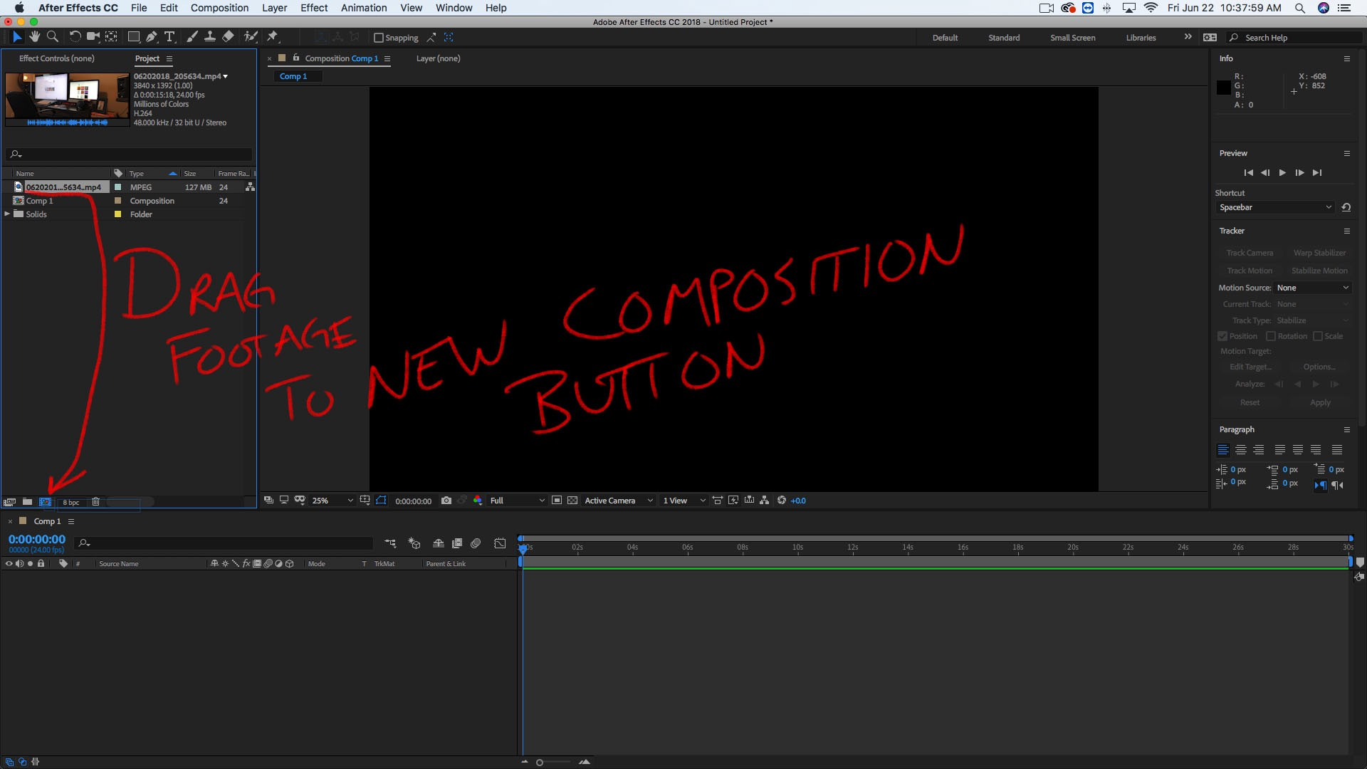 Motion Track 3D Stuff You Make with Sculptris and After Effects