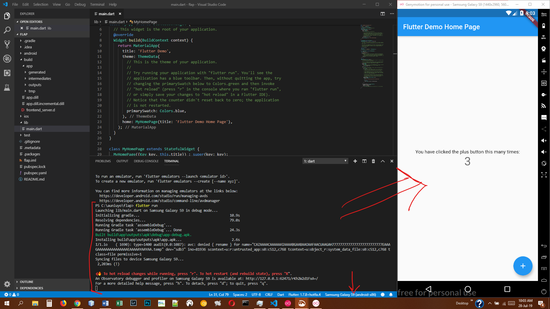Using Genymotion Emulator with Flutter in VS Code — (Without