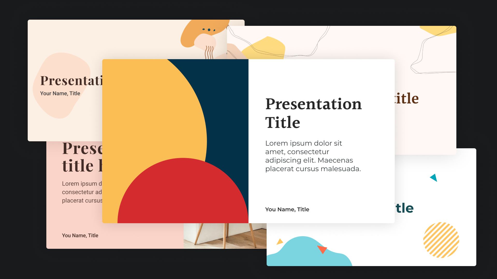 Collection of presentation preveiws from templatery.co