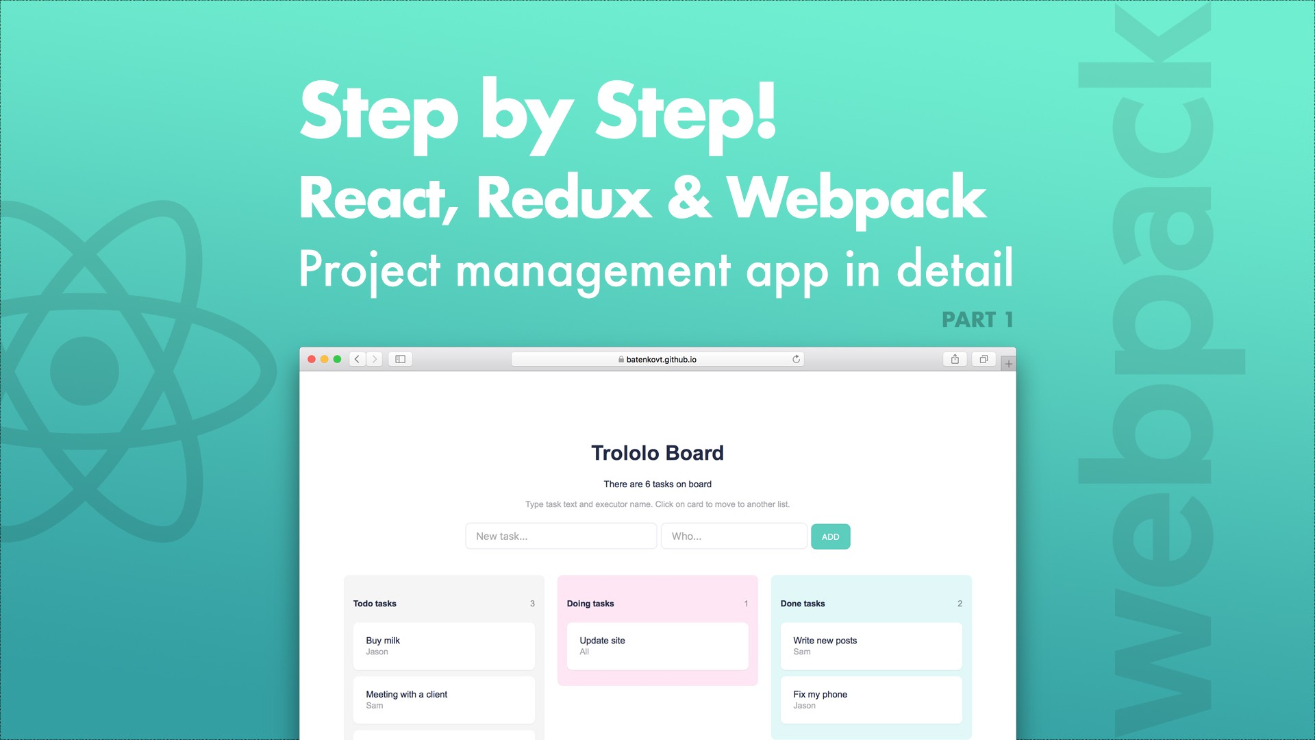 Step by Step! React, Redux and Webpack - codeburst