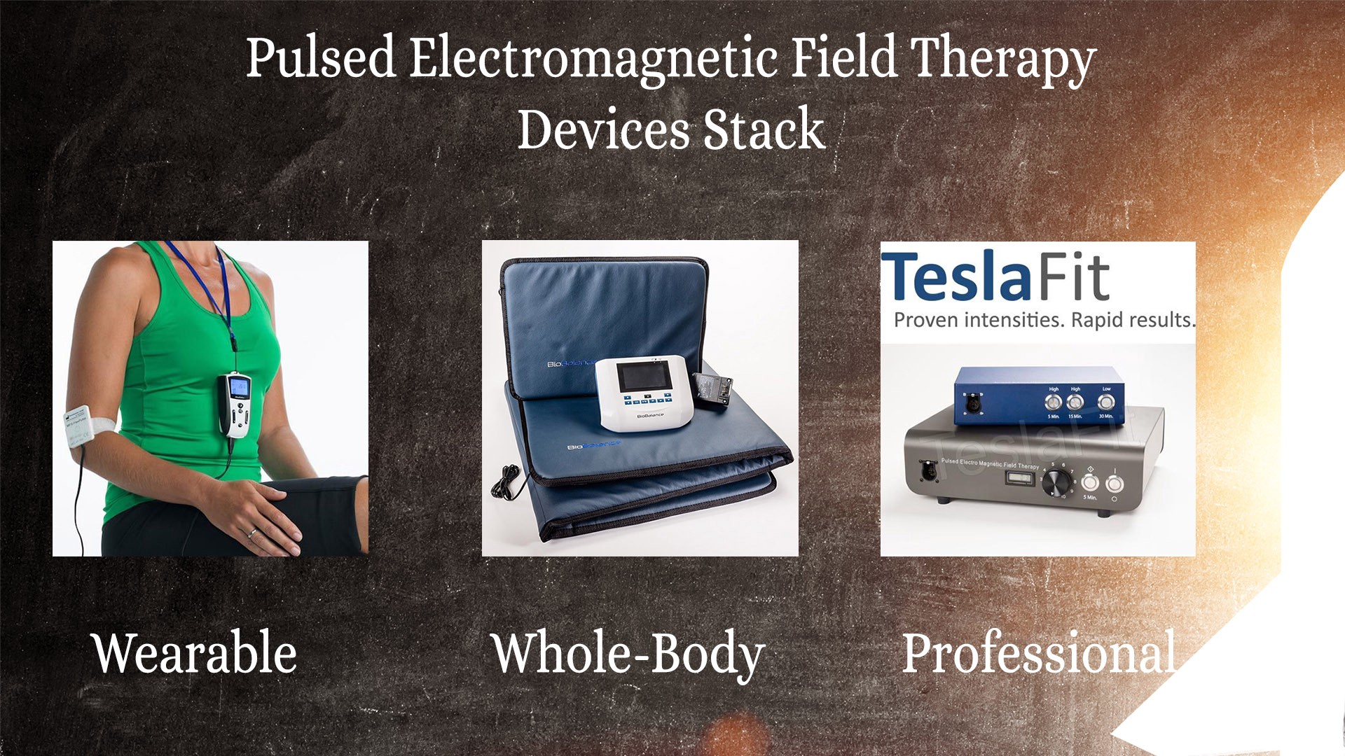 PEMF devices stack for 2019 - Magnetic Stimulation Therapy