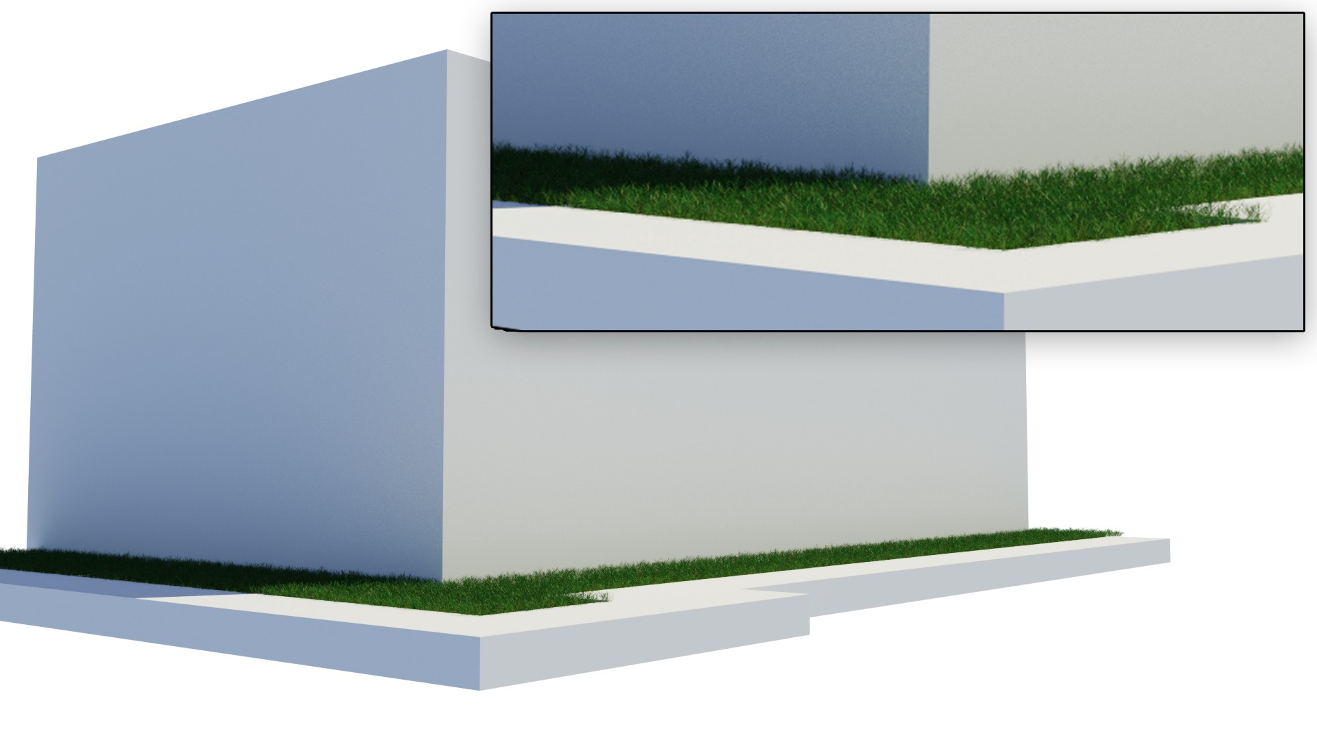 Microdisplacement for Grass in Blender - Brennan Letkeman