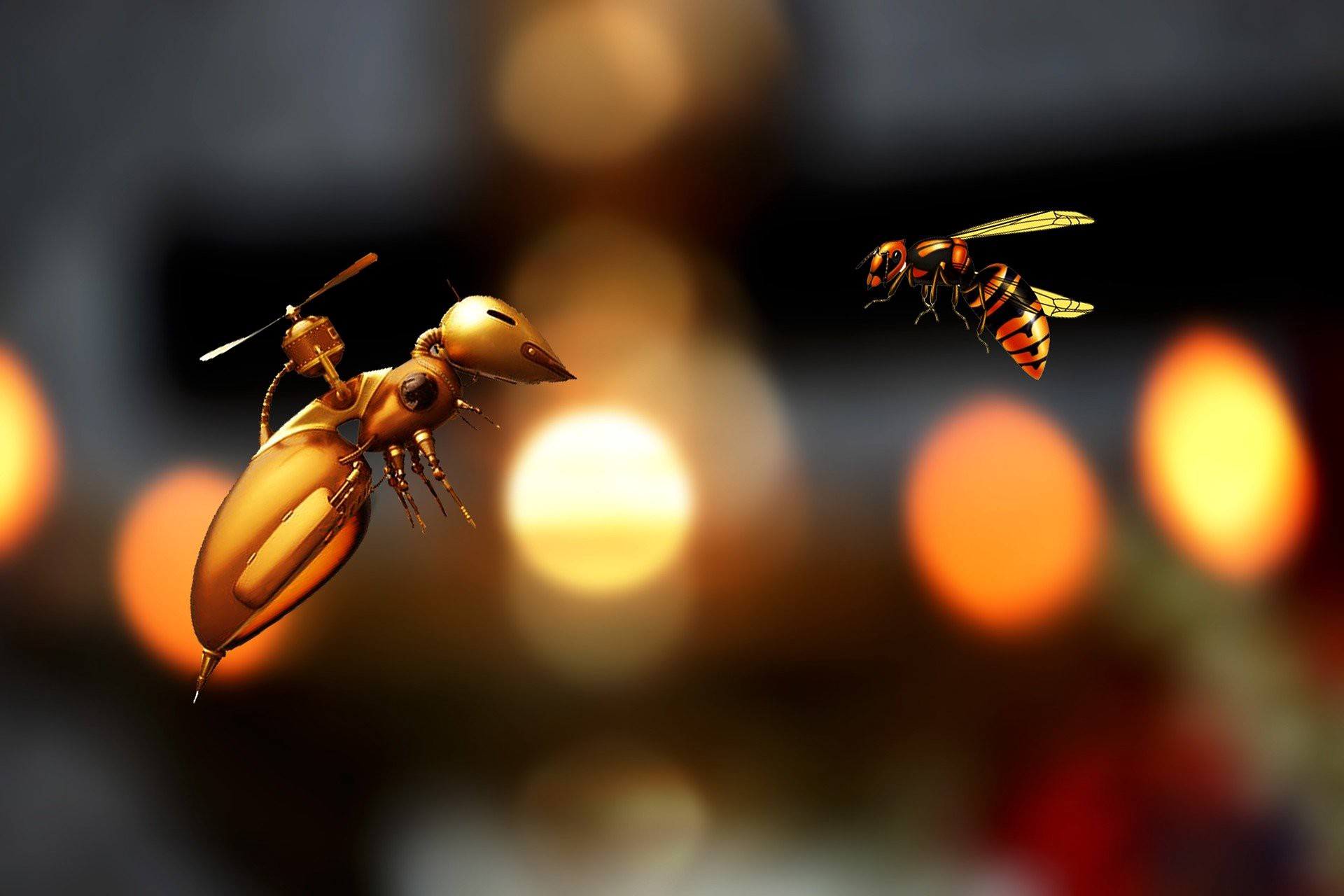 Image of bee robot