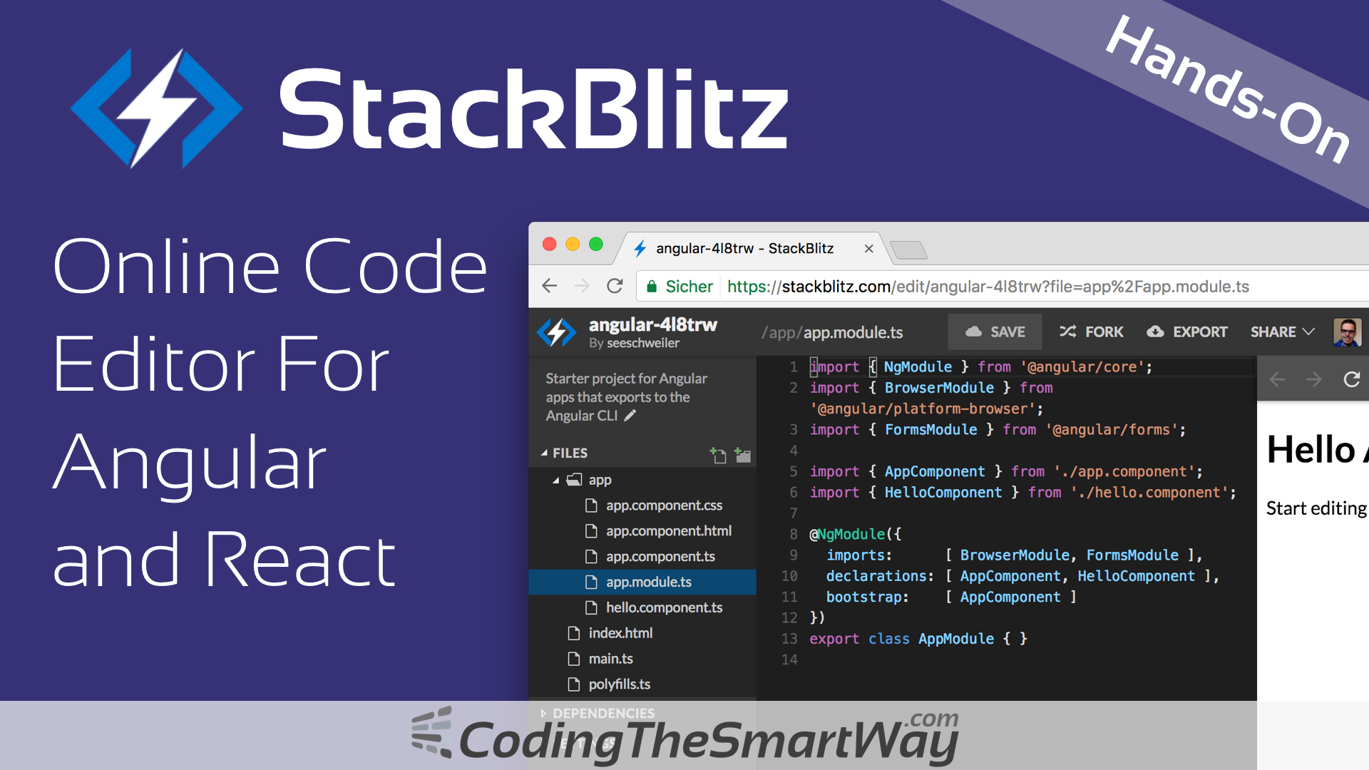 StackBlitz — Online Code Editor For Angular and React