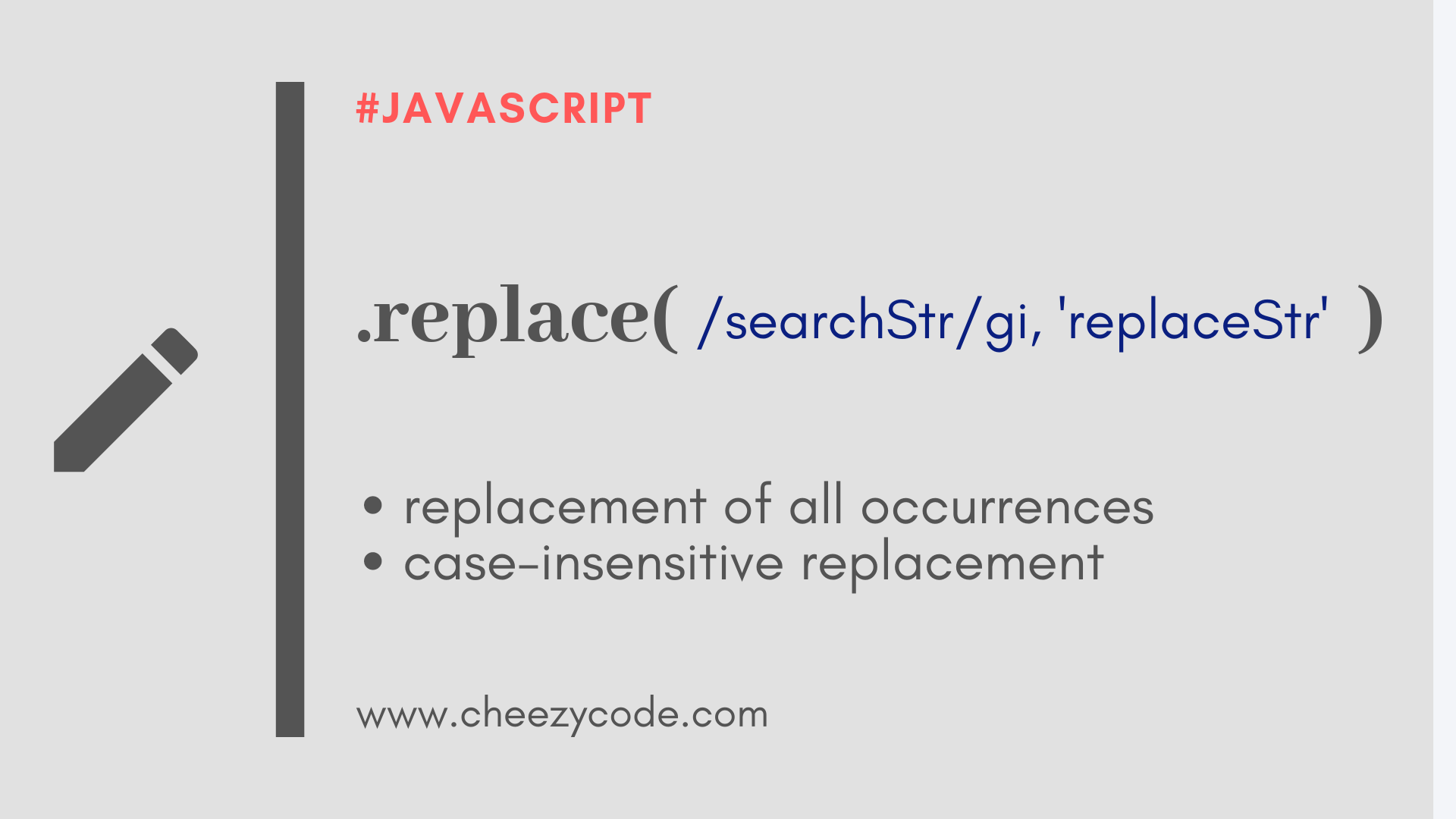 How to replace string case insensitive in JavaScript?   by CheezyCode    Medium