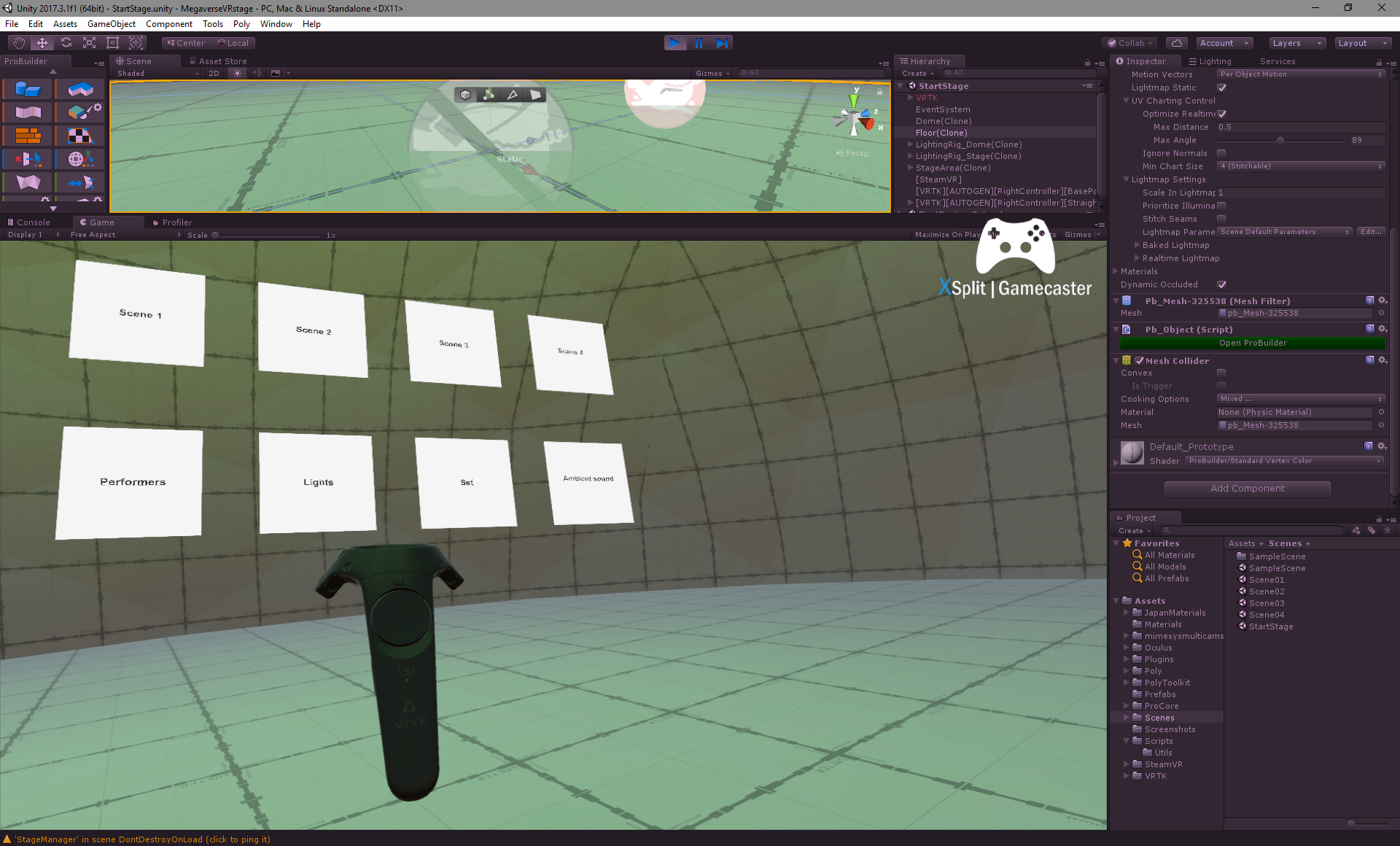 "Grassroots Holodeck"": Building a virtual stage in Unity for"