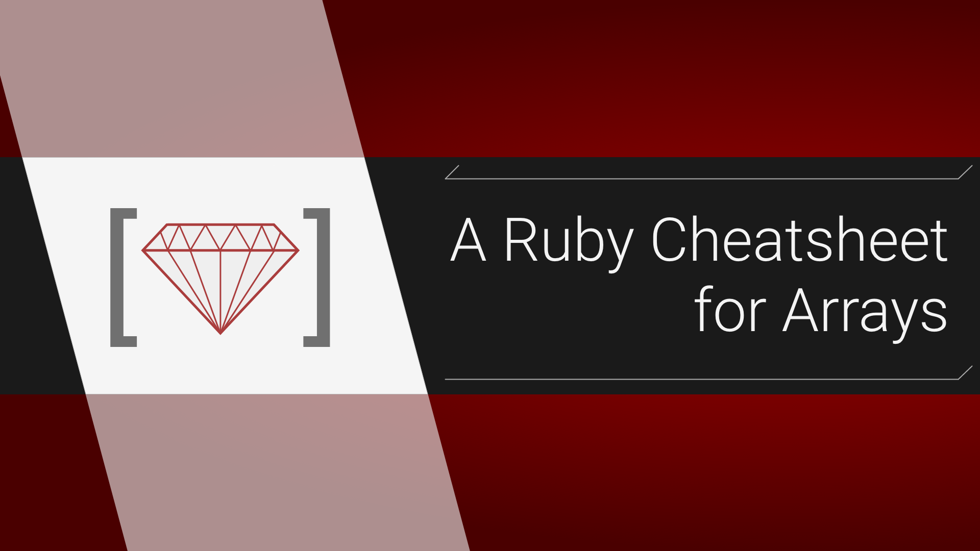 A Ruby Cheatsheet For Arrays - ITNEXT