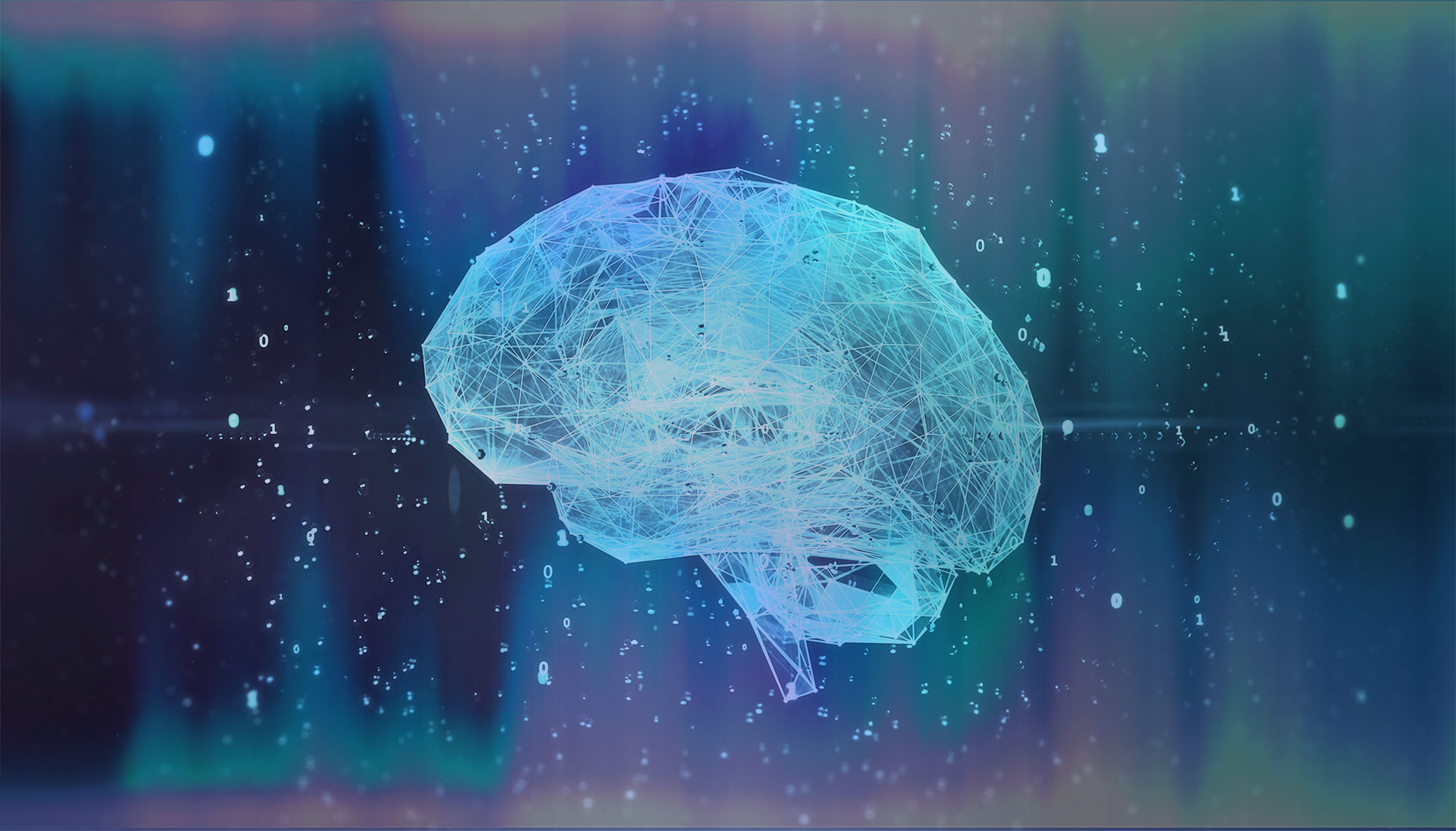 Image designed in photoshop representing a neural network and brain. The open source image can be found for free on Pixabay