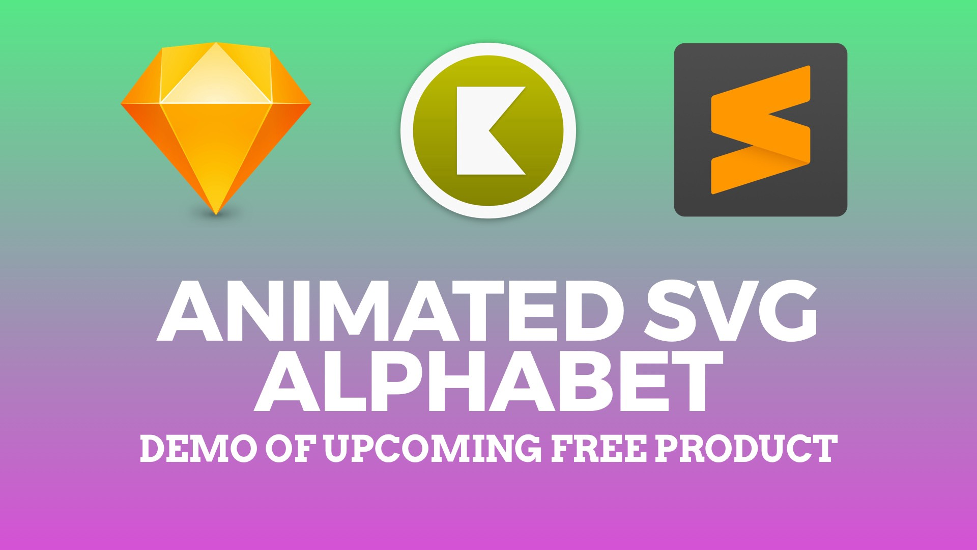 Animated SVG Alphabet Tutorial with Sketch and Keyshape