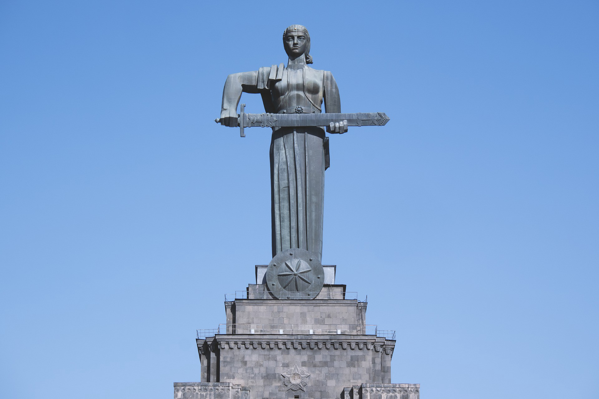 Statue of Mother Armenia defending her people and nation.