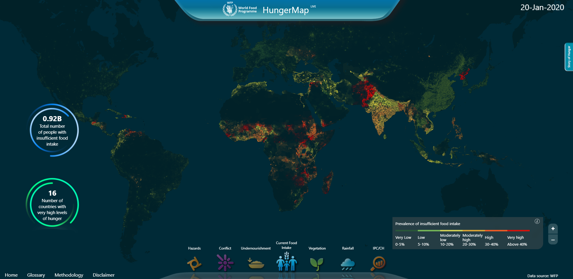 Wfp Launches Hungermap Live Real Time Monitoring Of Food Security By Anna Gustilo Ong World Food Programme Insight