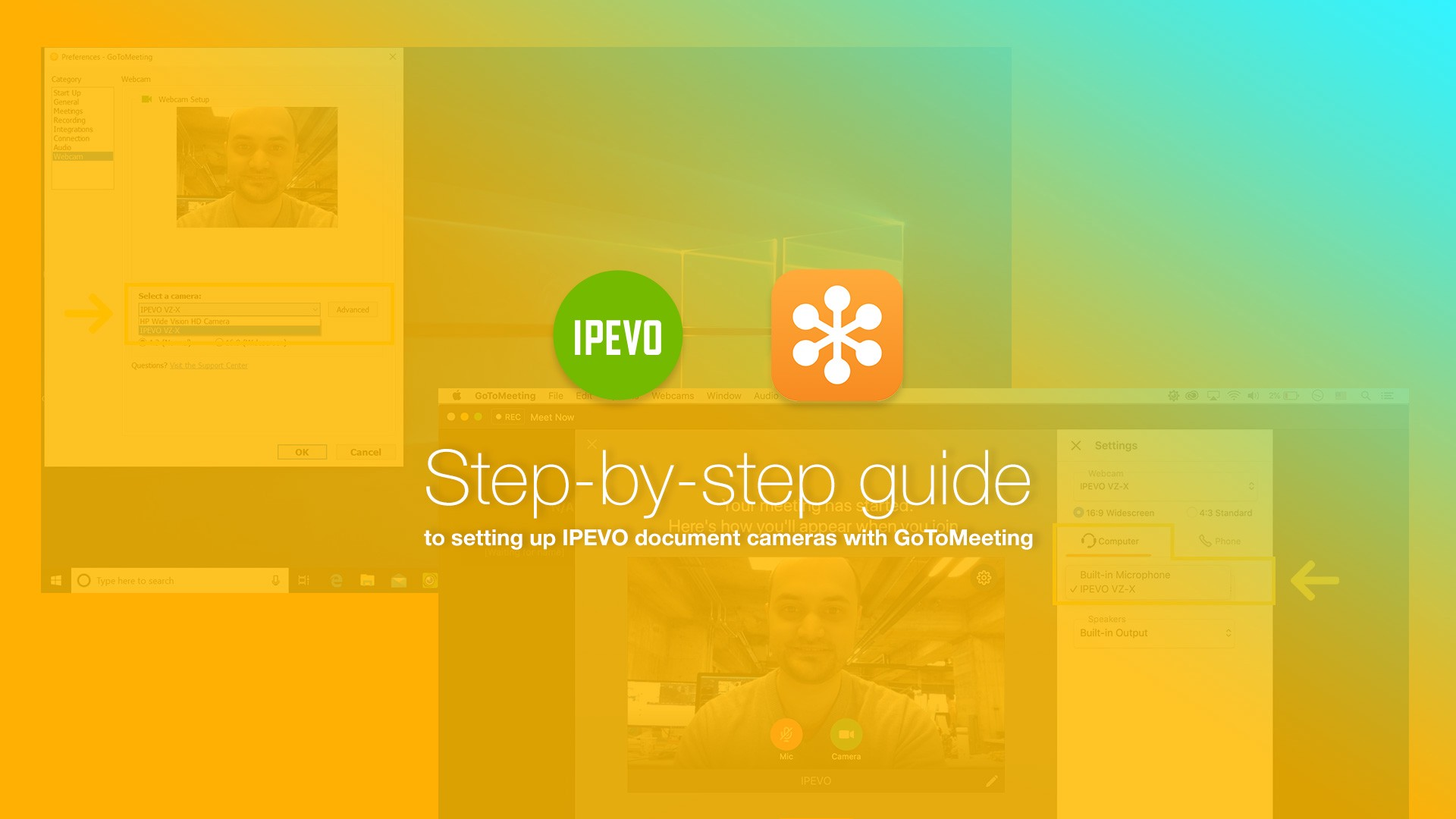 Step-by-step guide to setting up IPEVO document cameras with GoToMeeting