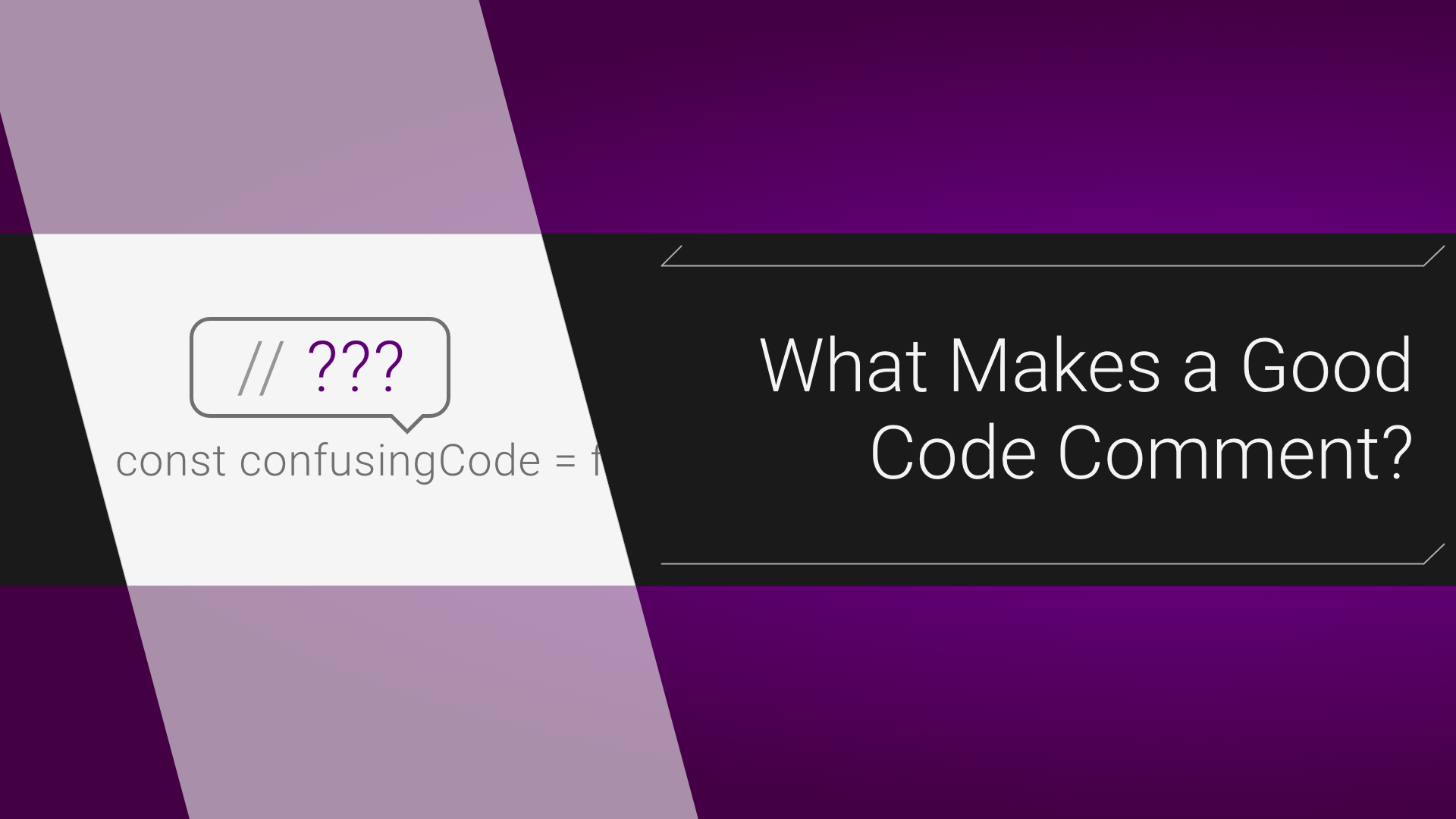 What Makes A Good Code Comment Itnext