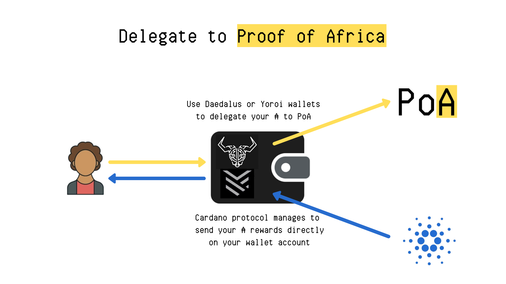 Cardano Blockchain network secure stakepool staking passive rewards ouroboros stake pool proof of africa POA how functioning
