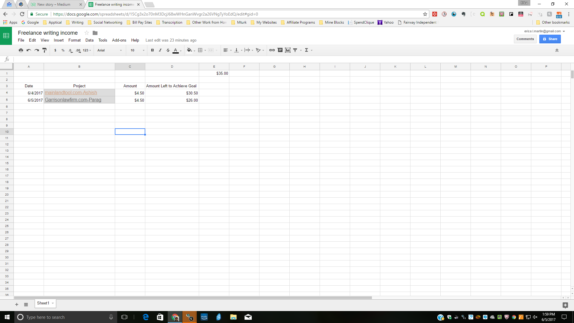 How to Create a Running Total in Google Sheets