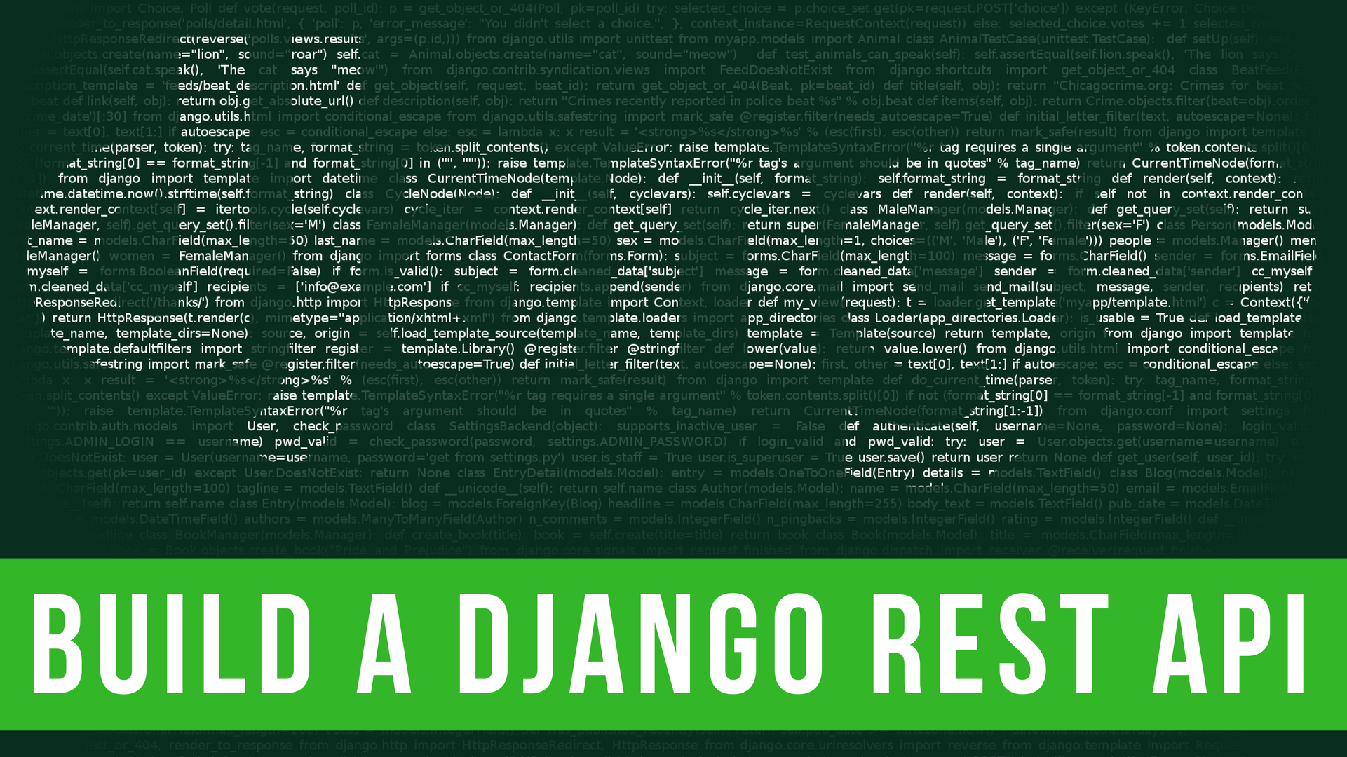 Create a Django API in Under 20 Minutes - codeburst