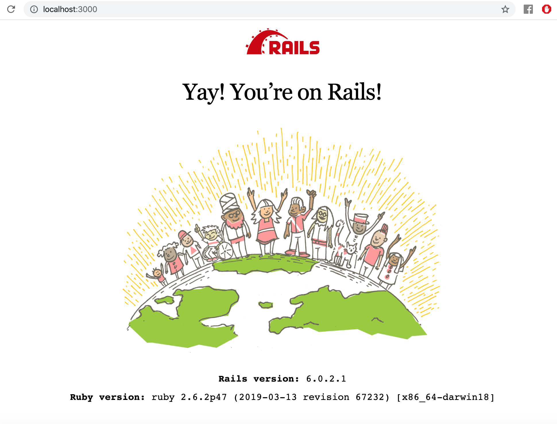 Ruby on Rails application default page