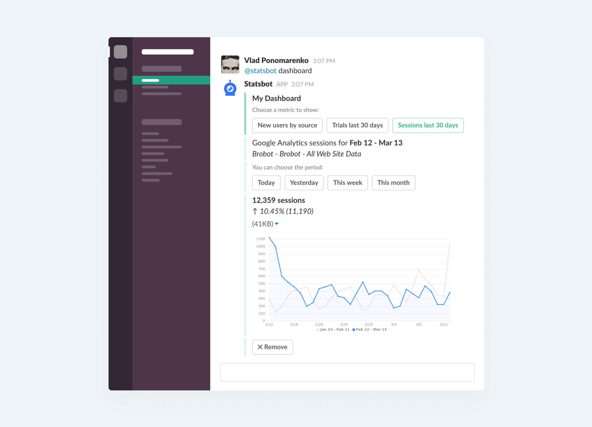One Dashboard to Rule Them All - Stats and Bots
