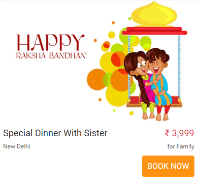 raksha bandhan special offer at restaurant
