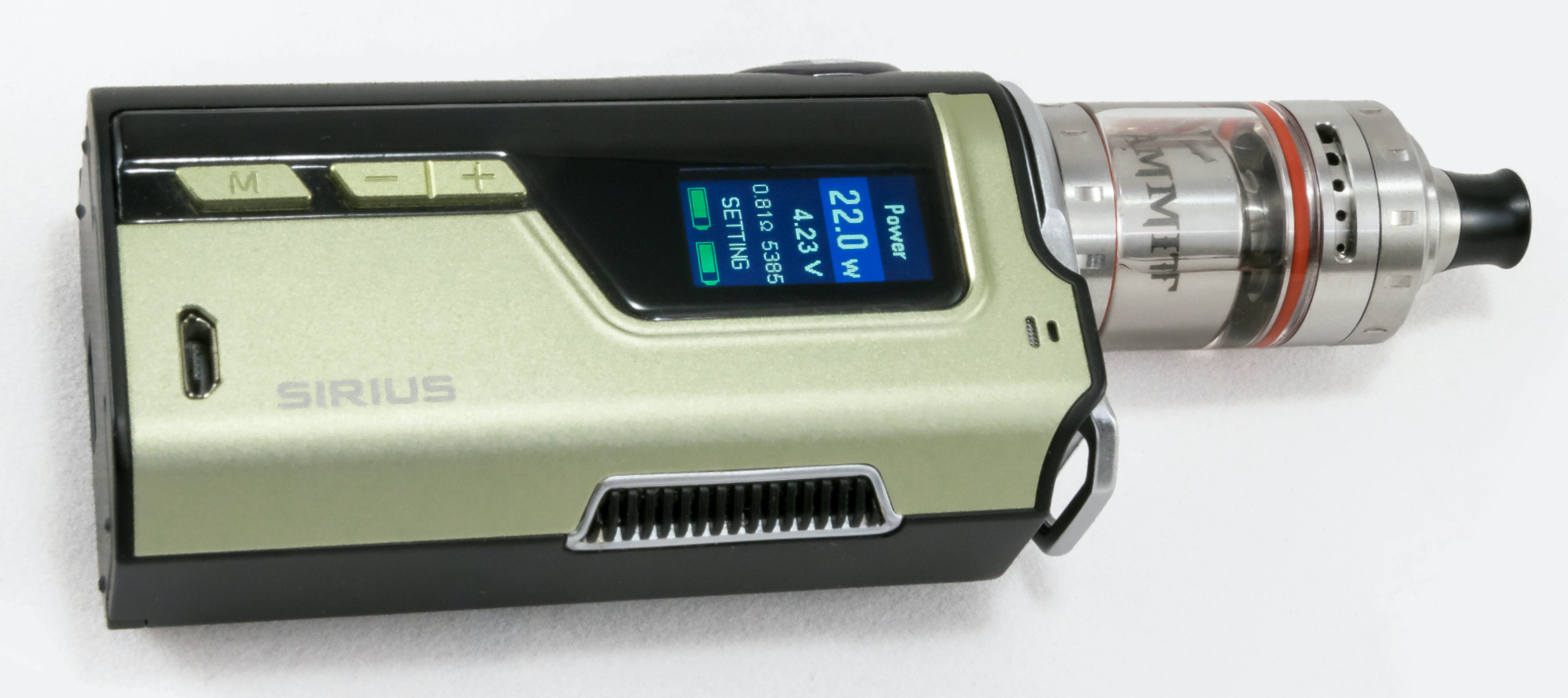 Photo of the old, clunky style of vaping devices