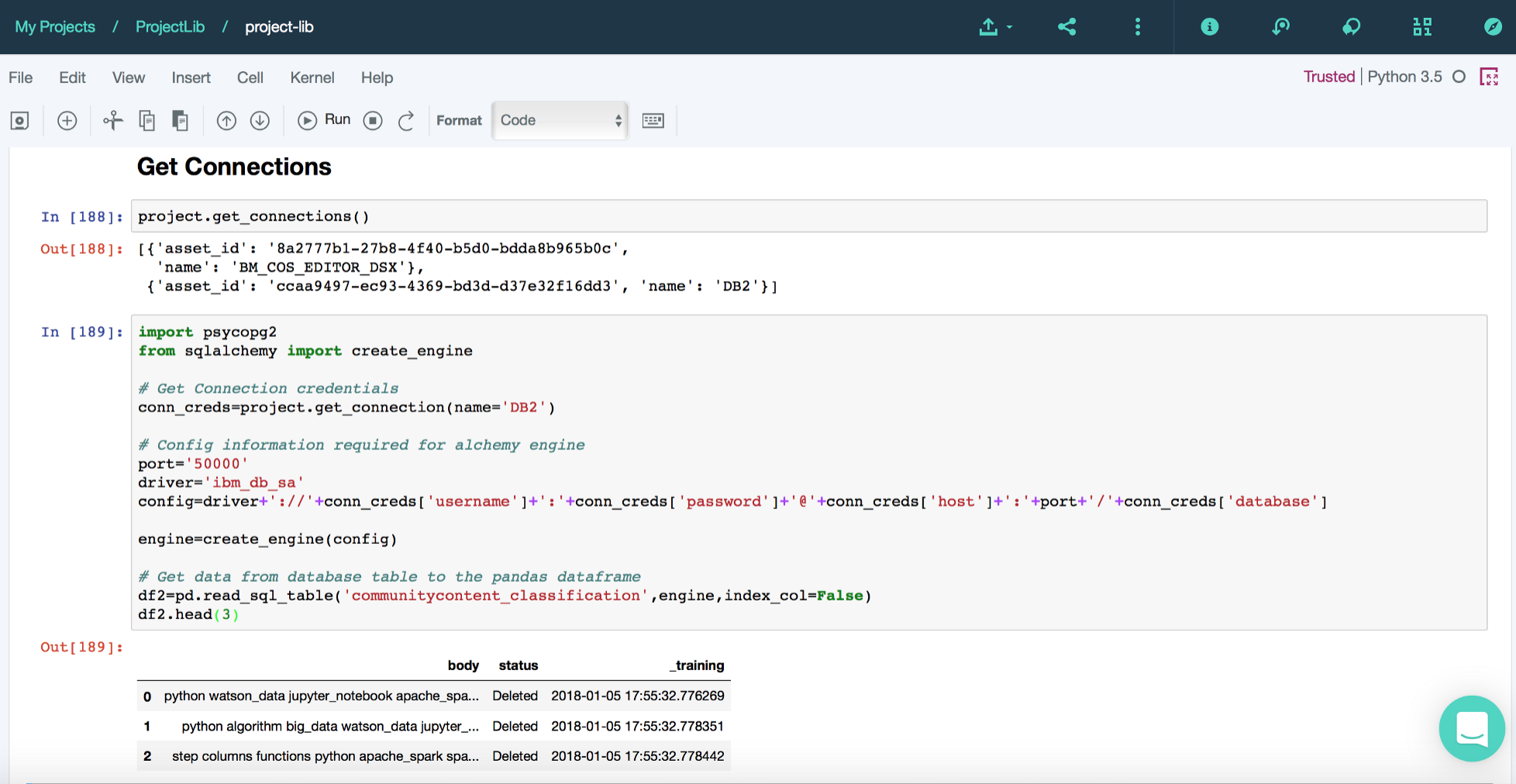 Control your DSX projects using Python - IBM Watson Data