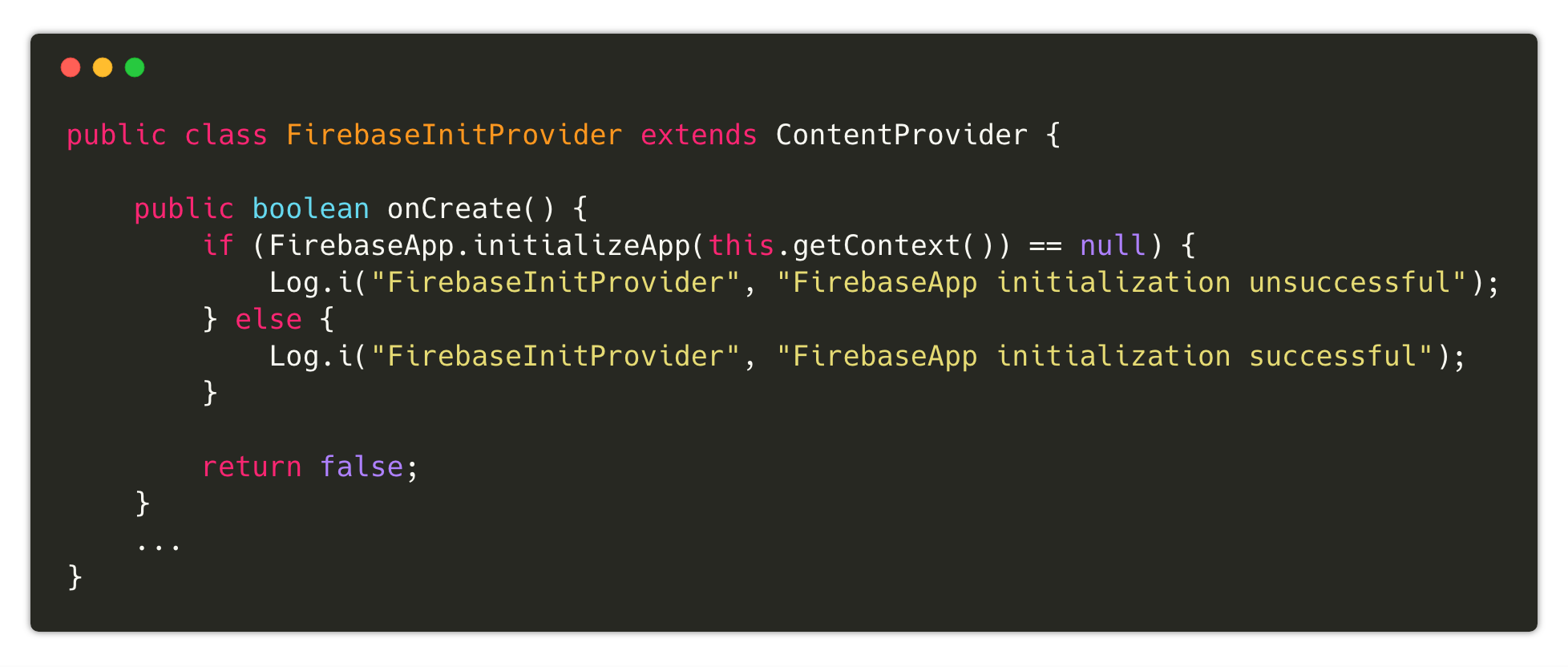 Your android libraries should not ask for an application context