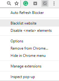 stop a web page from auto refreshing in Chrome or Firefox