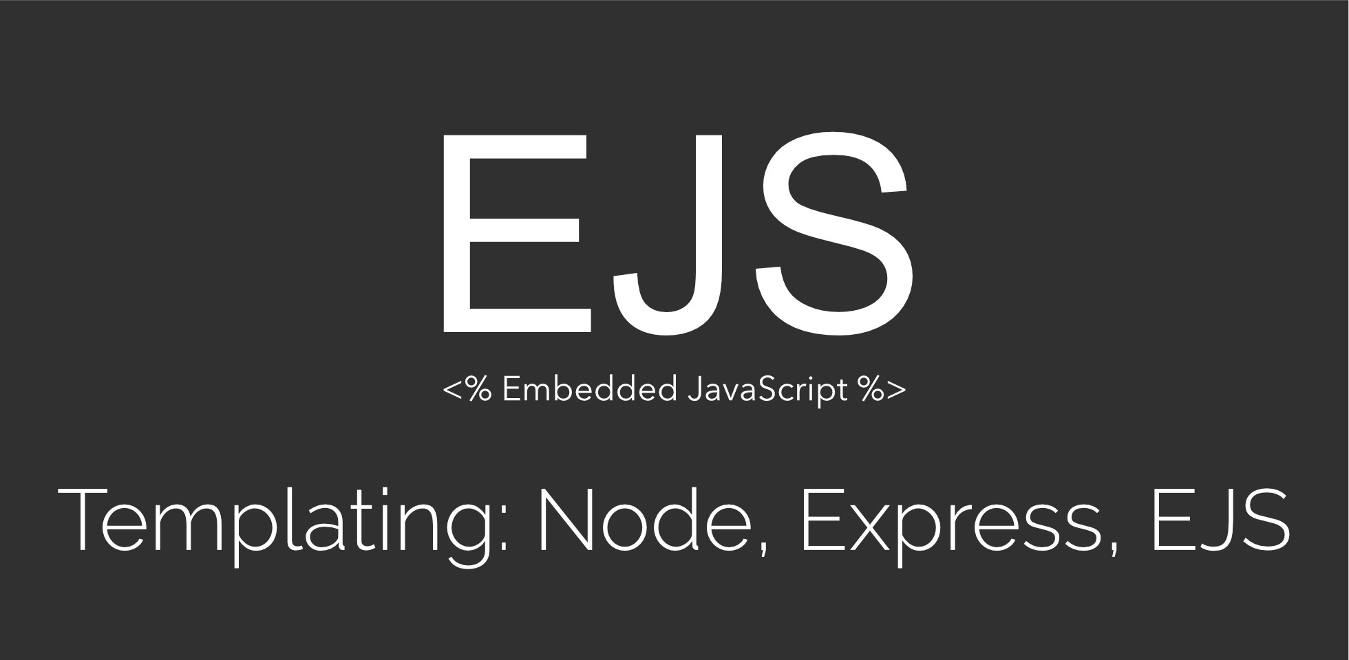 Getting started with EJS - Vanessa Ating - Medium