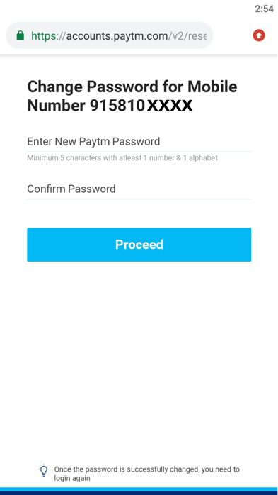 Forgotten Your Paytm Password, Here's What you Should do?