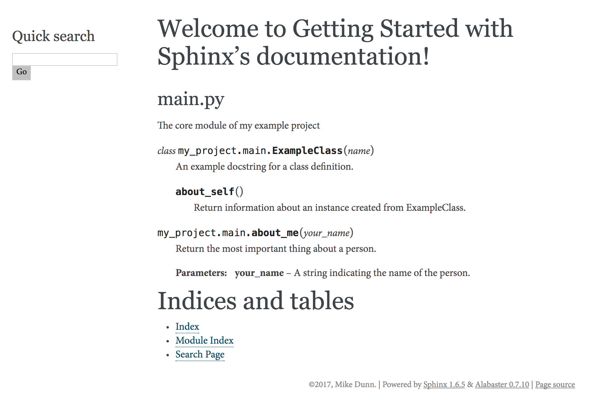 Getting Started with Sphinx / Autodoc: Part 1 - Michael Dunn