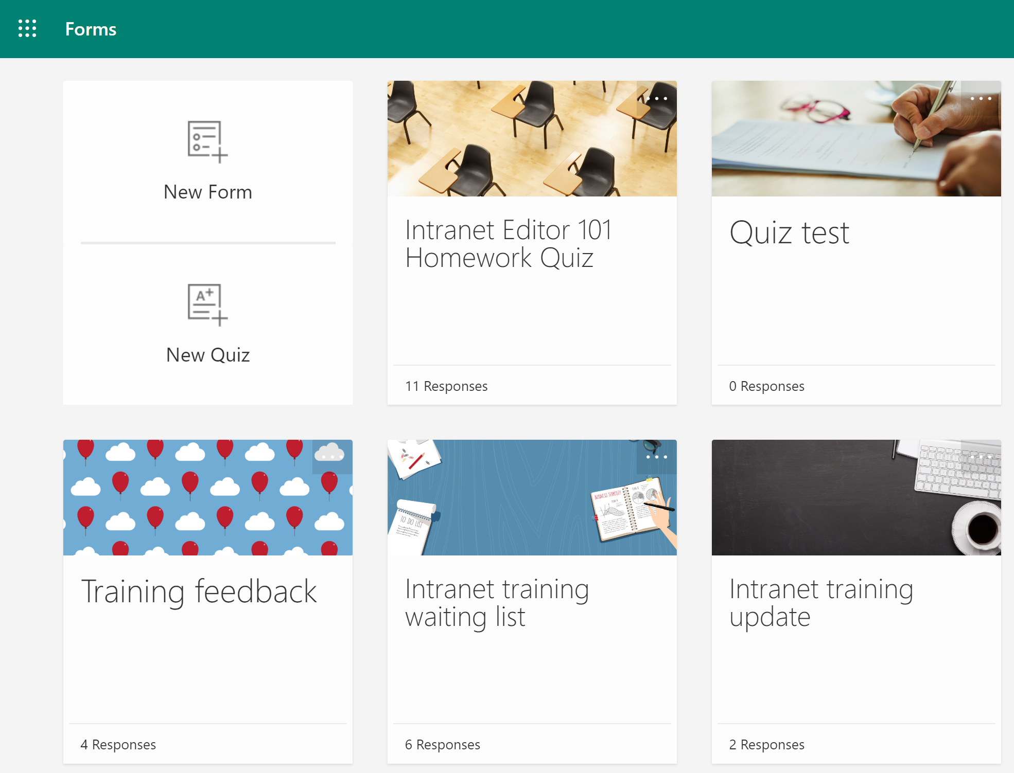 Microsoft Forms helps you create surveys, generate quizzes, conduct polls and capture data.