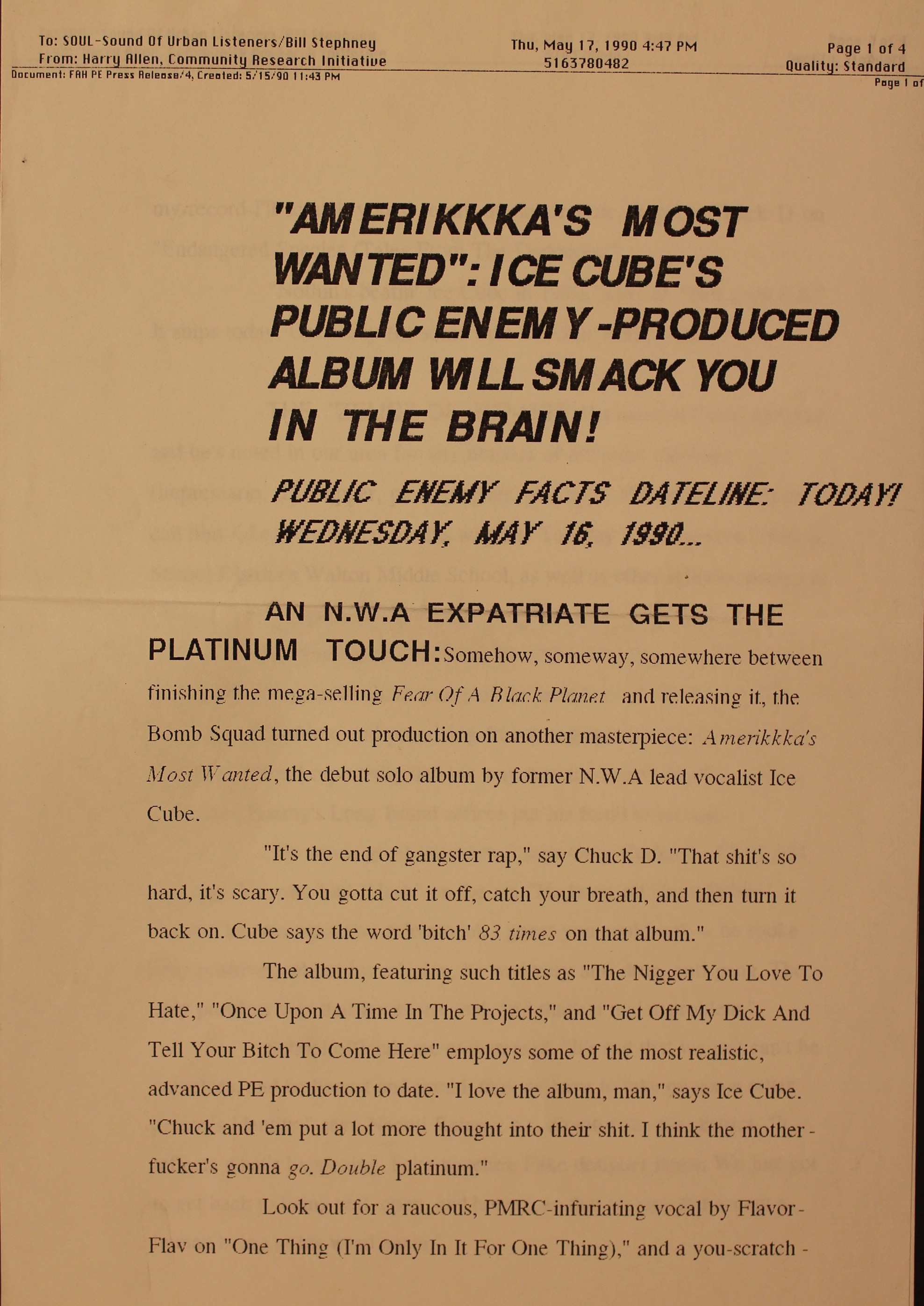 """The Making of Ice Cube's """"AmeriKKKa's Most Wanted"""