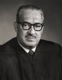 Formal portrait of Supreme Court Justice Thurgood Marshall.