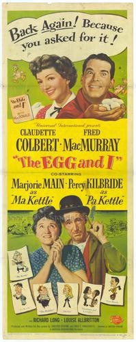 Original poster for the 1947 Egg and I motion picture.