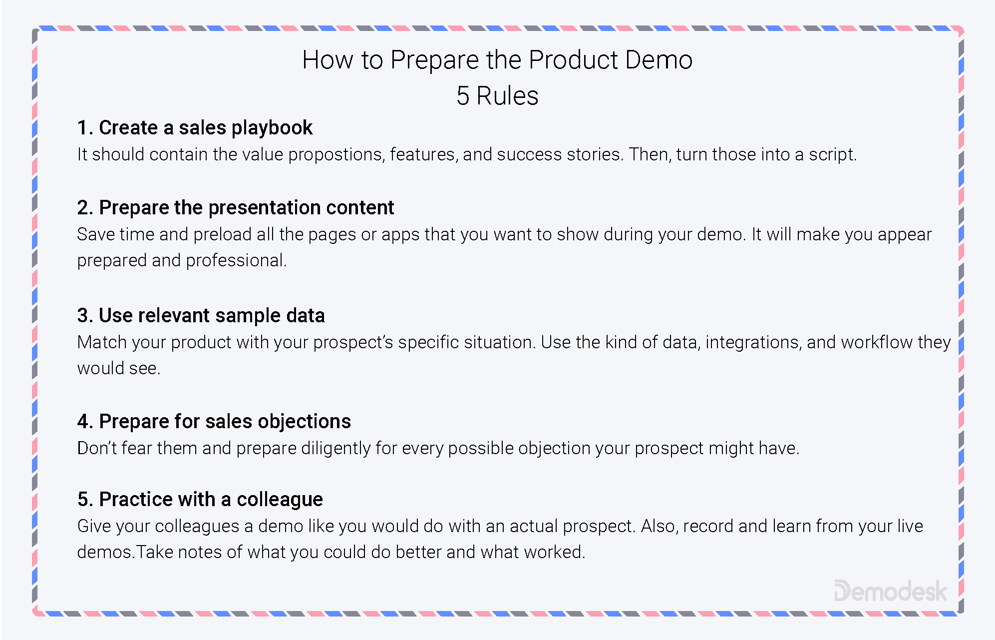 What makes a great product demo? 10 Best Practices from the