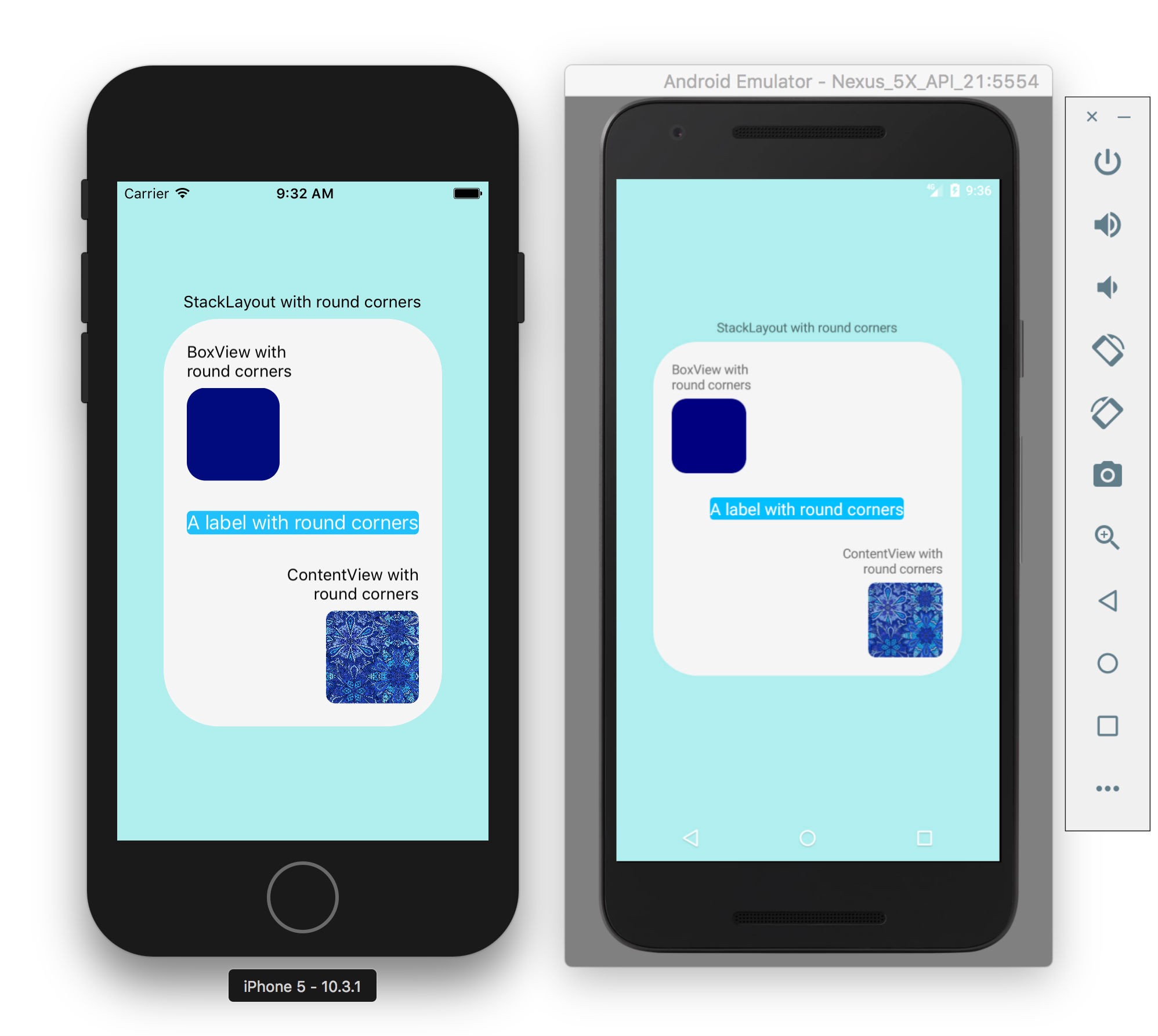 Controls and layouts with rounded corners with Xamarin Forms